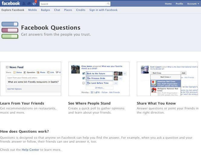 Facebook questions - Get on Facebook Audience's News Feed